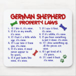 GERMAN SHEPHERD Property Laws 2 Mouse Mat