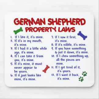 GERMAN SHEPHERD Property Laws 2 Mouse Mat