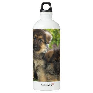 German Shepherd Puppies Aluminum Water Bottle