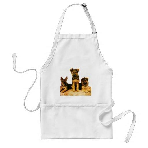 German Shepherd puppies apron