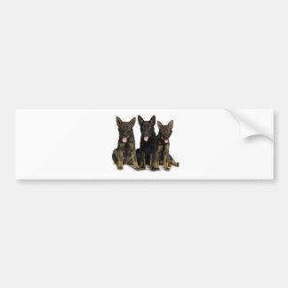 German Shepherd Puppies Bumper Sticker