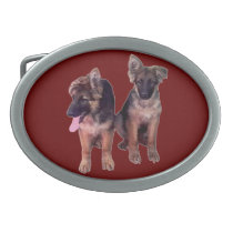 German Shepherd puppies Custom Belt Buckles
