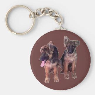 German Shepherd puppies Custom Keychain