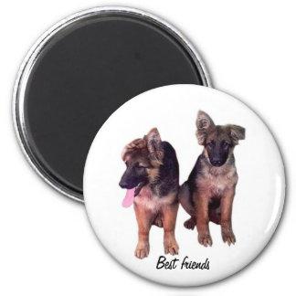 German Shepherd puppies Custom Magnet