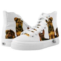 German Shepherd puppies high top tennis shoes