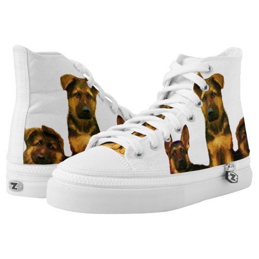 german shepherd puppies high top tennis shoes zazzle