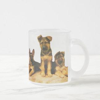 German Shepherd puppies mug