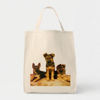 German Shepherd puppies tote bag