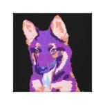 German Shepherd puppy art canvas Canvas Print