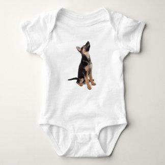 German shepherd puppy baby bodysuit