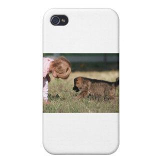 German Shepherd Puppy & Baby Grace iPhone 4/4S Case