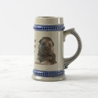 German Shepherd Puppy Beer Stein