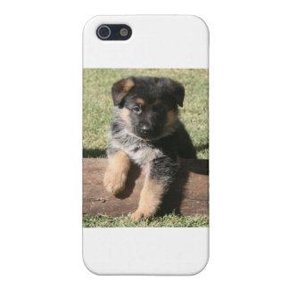 "German Shepherd Puppy ""Big Max"" iPhone SE/5/5s Case"