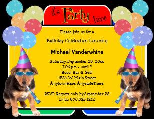 German birthday invitations announcements zazzle german shepherd puppy birthday barker invitation stopboris Gallery