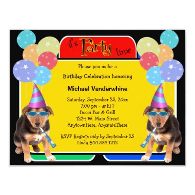 German shepherd dog invitation zazzle stopboris Gallery