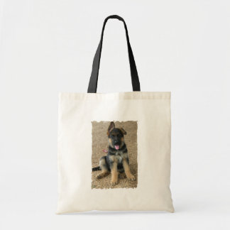 German Shepherd Puppy Budget Tote Bag
