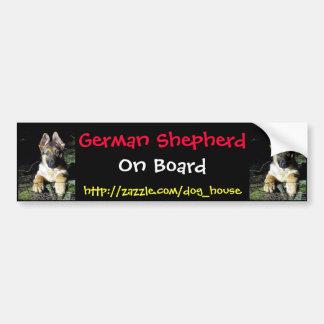 German-Shepherd Puppy Bumper Sticker