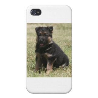 """German Shepherd Puppy """"Caitie"""" iPhone 4 Cases"""