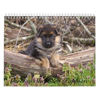 German Shepherd Puppy Calendar 2016
