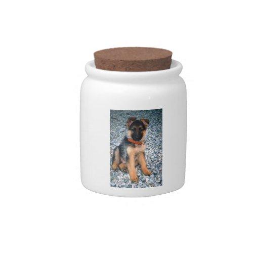 German Shepherd Puppy Candy Jar