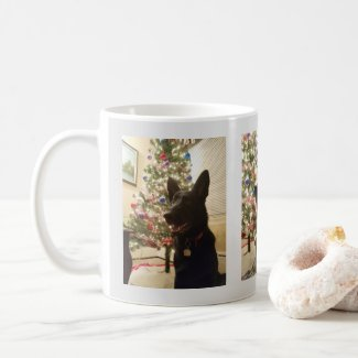 German Shepherd Puppy Christmas and New Year, ZKA Coffee Mug