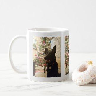 German Shepherd Puppy Christmas and New Year, ZKA Coffee Mug