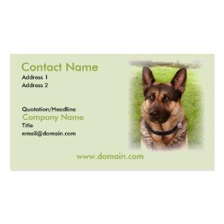 German Shepherd Puppy Dog Business Card