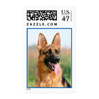 German Shepherd Puppy Dog Canine Postage Stamps