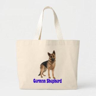 German Shepherd Puppy Dog Canvas Grocery Tote Bag