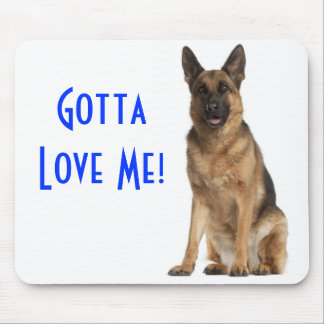German Shepherd  Puppy Dog Computer Mousepad