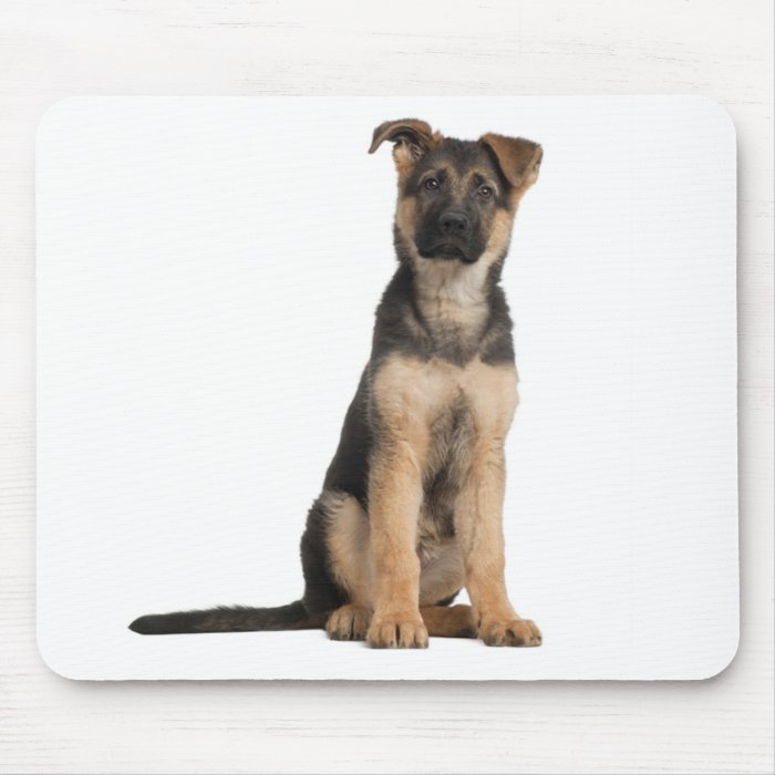 German Shepherd  Puppy Dog Computer Mousepad