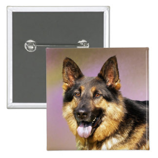 German Shepherd Puppy Dog Love Button Pin