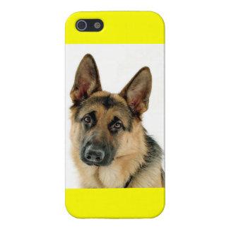 German Shepherd Puppy Dog Yellow iPhone 5 Case