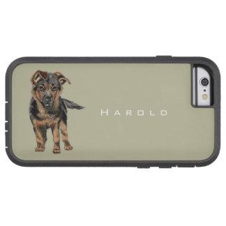 German Shepherd Puppy Drawing Tough Xtreme iPhone 6 Case