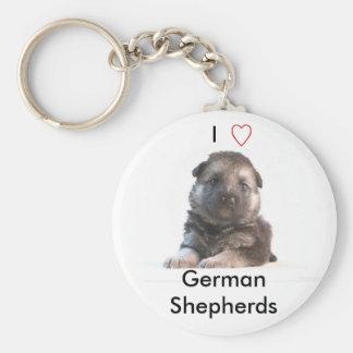 German Shepherd Puppy Keychain