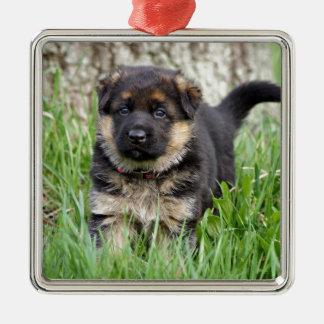 German Shepherd Puppy Metal Ornament
