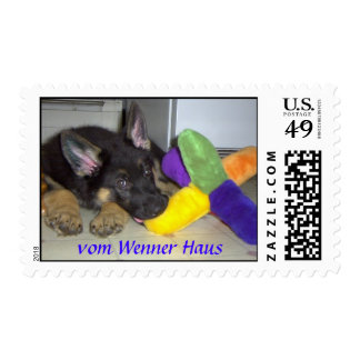 German Shepherd Puppy Stamp