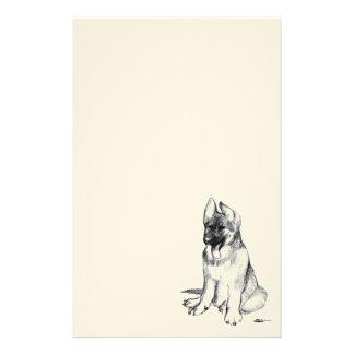 German Shepherd Puppy Stationery