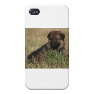 """German Shepherd Puppy """"The Lookout"""" iPhone 4/4S Cover"""