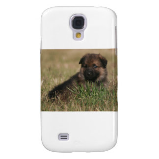 """German Shepherd Puppy """"The Lookout"""" Samsung Galaxy S4 Cover"""