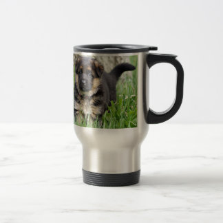 German Shepherd Puppy Travel Mug