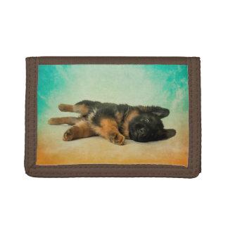 German Shepherd Puppy Trifold Wallet