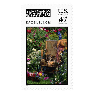 German Shepherd Pups Postage Garden