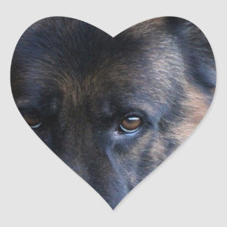 German Shepherd Randy vom Leithawald Heart Sticker