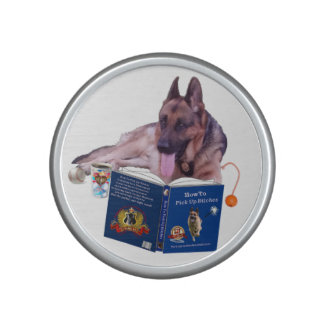 German Shepherd Reading Book Bumpster Speaker