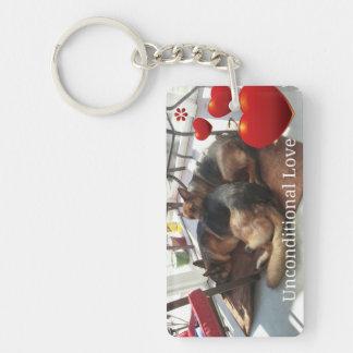 German Shepherd Rectangle (single-sided) Keychain