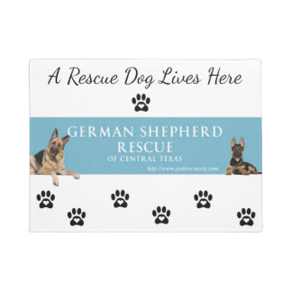 German Shepherd Rescue Central Texas Door Mat
