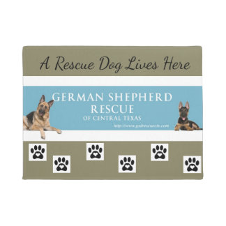German Shepherd Rescue Central Tx Door Mat Taupe