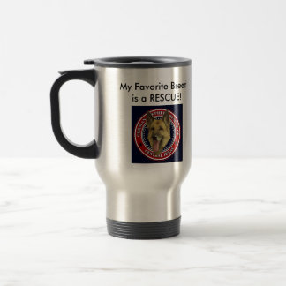 German Shepherd Rescue CTX 2 sided Travel mug