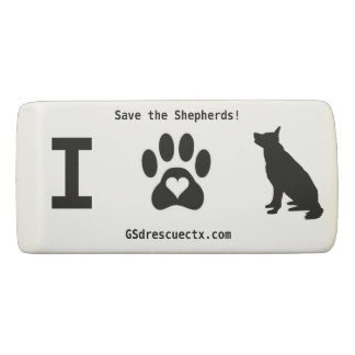 German Shepherd Rescue Eraser School Supply